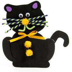 Black Cat Clothespin #kids #craft #halloween