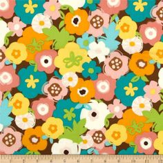 Creatures & Critters Large Flowers Allover sold by JRsFabricStash, $4.00