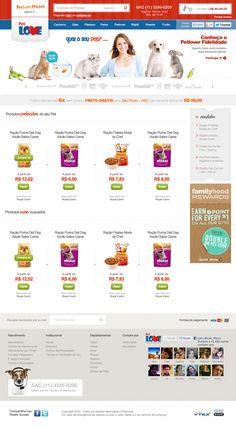 Layout para a loja de produtos de animais Petlove - Plataforma VTEX