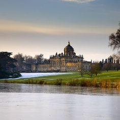 Castle Howard near York - The House from the South Lake.  A great day out.