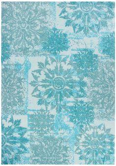 Trendline Spirit türkis130 x 190 cm - Retro | Vintage - Tapijt, moderne tapijten, designer tapijten, hoogpolig tapijten, kinderen tapijten