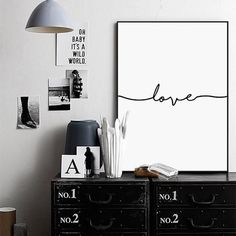 Love Sign Word Art Black and White Poster Canvas Prints Art inspirational wall modern home decor painting on the wall pictures,Home Decorators,[tags] - DeliteShopping #canvasartprint #artprint #homedecor #printing #love