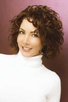 medium curly hairstyles for women over 50 - Google Search