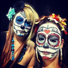 sugar skull make up, day of the dead