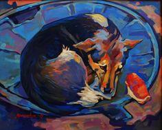 "Saatchi Art Artist Anastasia Yaroshevich; Painting, ""Bun"" #art"