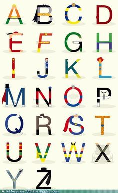 Superhero alphabet?!?  Absolute must have for my classroom - what a great nursery this would be!!!