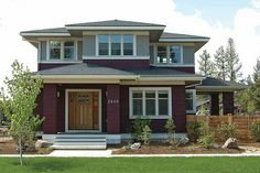Prairie Front Elevation Plan #434-2 - Houseplans.com