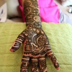 Indian wedding henna and mehndi for bride.