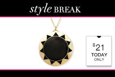 STYLE BREAK! Get the Abilena Gold Necklace for $21.