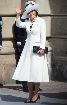Crown Princess Victoria of Sweden attends the celebrations of the Swedish Armed Forces for the 70th birthday of King Carl Gustaf of Sweden on April...