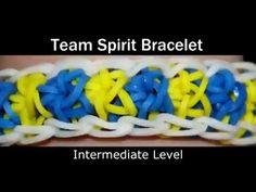 Rainbow Loom® Team Spirit Armband - http://www.rainbow-loom.nl/rainbow-loom-videos-voorbeelden/hoe-maak-je-de-team-spirit-rainbow-loom-armband-video-team-spirit-armbandje-maken-rainbow-loom-nl/