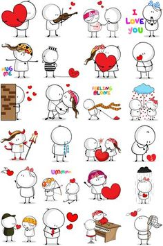 bigli migli life means - Yahoo Image Search Results Doodle Art, Valentines Day Drawing, Stick Figure Drawing, Love Doodles, Animated Icons, Sketch Notes, Cool Art Drawings, Stick Figures, Scrapbook Stickers