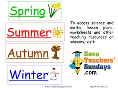 Seasons in the Southern Hemisphere | Teaching Resources - Teach ...