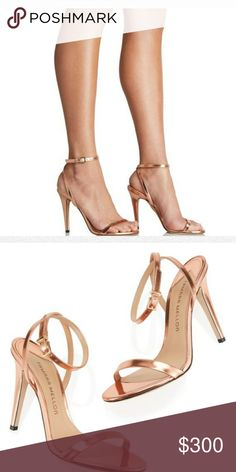 fee37bf609 {Tamara Mellon} Reveal Specchio Limited Edition Rose Gold Sandals.  ✓Original box and
