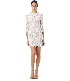 Adrianna Papell Lace Boatneck Sheath Dress #Dillards