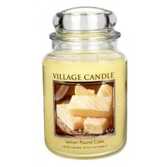 Village Candle Large Jar - Lemon Pound Cake
