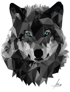 34 Ideas For Tattoo Geometric Animal Wolf Geometry Geometric Drawing, Geometric Art, Geometric Animal, Geometric Tattoo Wallpaper, Polygon Art, Illustrations, Pop Art, Art Drawings, Prints