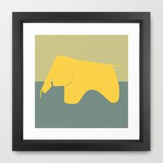 What's the elephant in the room? It's no secret that it's a striking, vibrant art print.  Find the Elephant in the Room Print, as seen in the Mid-Century Modern Bedroom Collection at http://dotandbo.com/collections/mid-century-modern-bedroom?utm_source=pinterest&utm_medium=organic&db_sku=SO60626