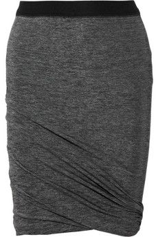 Ruched jersey mini skirt, comfy and cute!