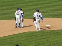 Starlin Castro and Darwin Barney hug after the Cubs shutout the Astros 3-0
