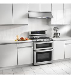 KitchenAid Architect Series II Double Oven Gas Range With Self Cleaning  Convection Oven In Stainless   The Home Depot