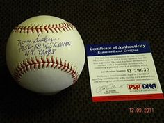 NORM SIEBERN ,YANKEES ,AUTOGRAPHED BASEBALL PSA/DNA !! . $149.99. THIS IS AN OFFICIAL MAJOR  LEAGUE   BASEBALL,SIGNED,BY YANKEE NORM SIEBERN.,BALL IS SIGNED WITH A BALL POINT PEN. ON SWEET SPOT-RARE,INCRIPTIONS,1956-58 W.S. CHAMPS ,N.Y.YANKS,PSA/DNA ,PLEASE CHECK SCAN,THANK YOU