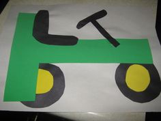 Tractor Craft for Kindergarten | We also used a lot of the printables from Confessions of a ...
