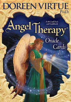 Angel Therapy Oracle Cards by Doreen Virtue (want this deck) Angel Therapy is a powerful healing and guidance process that involves working with your guardian angels and the archangels (particularly Michael and Raphael). These oracle cards and the enclosed guidebook give you action steps to take that will initiate healing; help you release fears and emotional blocks; and give you messages about your life purpose, relationships, manifestations, and more.