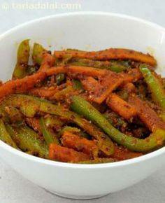 Gajar Marcha Nu Sambhaariyu ( Gujarati Recipe) recipe   Gujrati Recipes   by Tarla Dalal   Tarladalal.com   #576