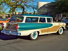 1958 Bermuda Station Wagon by Edsel. I knoooow! Automobile, Edsel Ford, Ford Lincoln Mercury, Old Fords, Unique Cars, Us Cars, Ford Motor Company, Station Wagon, Old Trucks