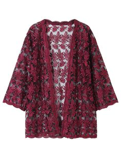 Women Lace Embroidery Cover Up Cardigan Summer Beachwear Best Picture For Cardigan pattern For Your Long Sleeve Kimono, Lace Kimono, Lace Embroidery, Embroidery On Clothes, Summer Cardigan, Lace Cardigan, Cardigan Pattern, Casual Formal Dresses, Spring Outfits Women