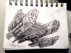"""""""SpaceshipADay shifting mission purpose leads to asymmetrical construction Cyberpunk, Starship Concept, Spaceship Design, Sketch Design, Sci Fi Art, Art Drawings Sketches, Spacecraft, Science Fiction, Concept Art"""