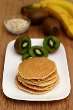 Pancakes aux flocons d'avoine et fromage blanc