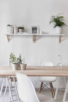 The serene white and wood home of an architect and graphic designer, Marina  Senabre Roca