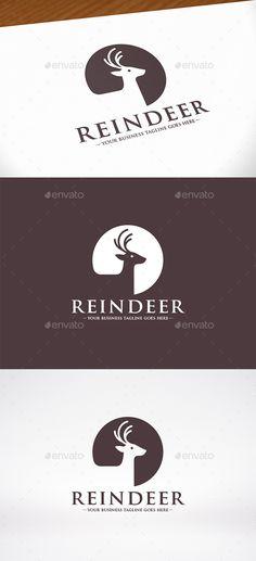 Reindeer Head  Logo Design Template Vector #logotype Download it here: http://graphicriver.net/item/reindeer-head-logo-template/10039074?s_rank=1382?ref=nexion