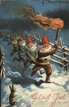 Glad Yule with Elves Lighting the Way (Not storming the Castle as I thought!)..