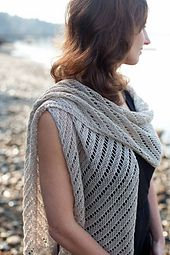 Ravelry: Diagonal Lace Scarf & Wrap pattern by Churchmouse Yarns and Teas