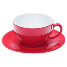 Cappuccinokopp med Fat Pronto röd 25cl 2 pack - Dryckesglas.se