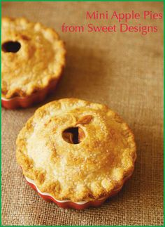 Mini Apple Pie Recipe from Sweet Designs Amy Atlas