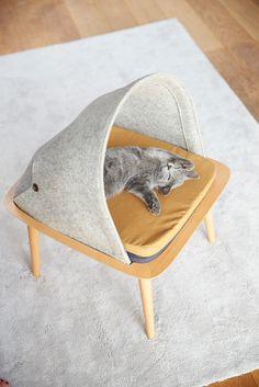 Designer francesa cria ninhos tão lindos para gatos que servem de decoração