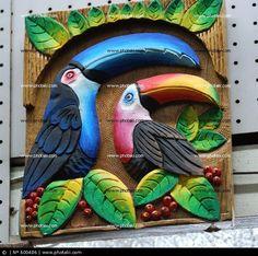 Resultado de imagen para paisajes tipicos costarricenses Paper Mache Clay, Paper Mache Sculpture, Sculpture Painting, Mural Painting, Mural Art, Ceramic Painting, Clay Wall Art, 3d Wall Art, Clay Art