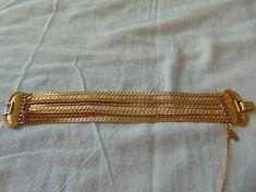 monet bracelet multi strand gold plated 8 strands clasp dressy
