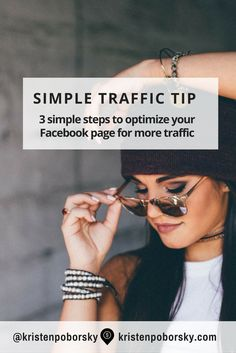 3 simple tips to help optimize your Facebook Page & get more blog traffic