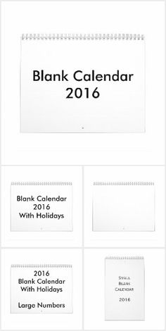 Blank calendar 2016 - empty calendars, with or without holidays, small or large, one or two-sides. if you prefer your calendar to be plain and simple Blank Monthly Calendar, Cards Against Humanity