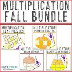 Fall Math Coloring Page Alternatives for Upper Elementary {21 options!} | 3rd, 4th, 5th grade, Activities, Basic Operations, Games, Homeschool, Math, Math Centers, Mental Math