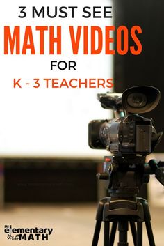 3 Must Watch Math Videos for kindergarten, first, second and third grade teachers.  Learn fun and interactive math activities you can use in your classroom today.