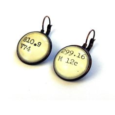 "card catalog earrings. @Sara Jane Elizabeth - these made me think of you!! hope you got your mountain of books back to ""the pickle."""