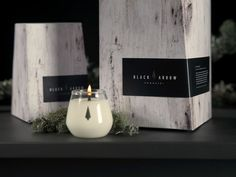 Sophisticated Soy Candle Branding - Black Arrow Candles Boasts an Elegant Packaging Design (GALLERY) Australian Based Candle Company #packagingdesign #nature #candles #woodgrain