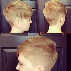 pixie top with super short sides and back.  cute.