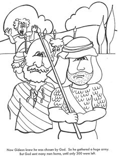 old testament book 1 lesson 39 gideon print go packet 300 lebanon road elementary bible classes pinterest bible sunday school and school - Gideon Bible Story Coloring Pages